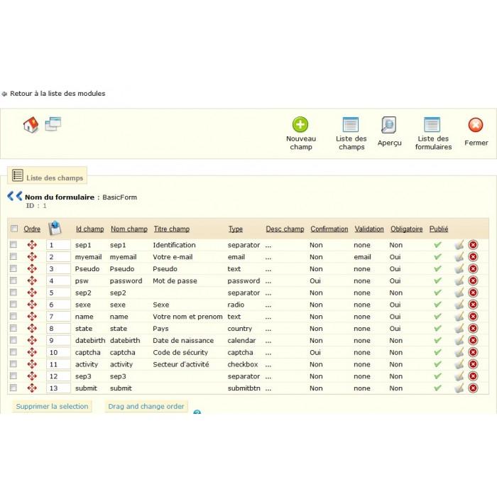module - Contact Forms & Surveys - Customizable ContactForm - 7