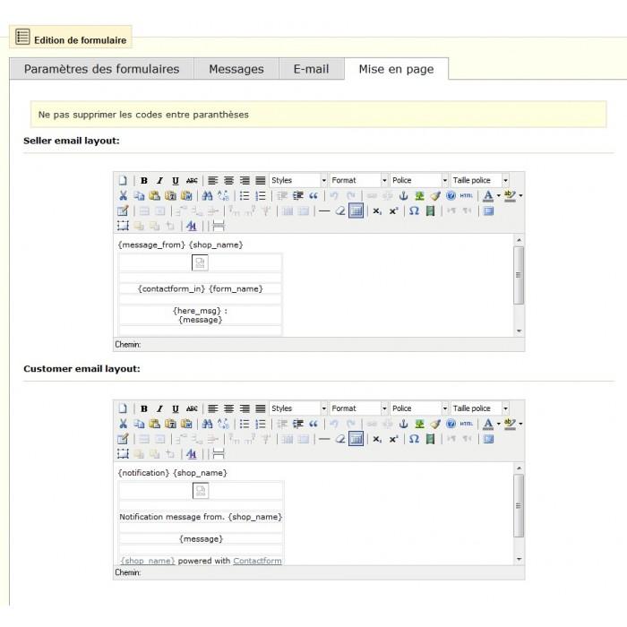 module - Форма обратной связи и Опросы - Customizable ContactForm - 8