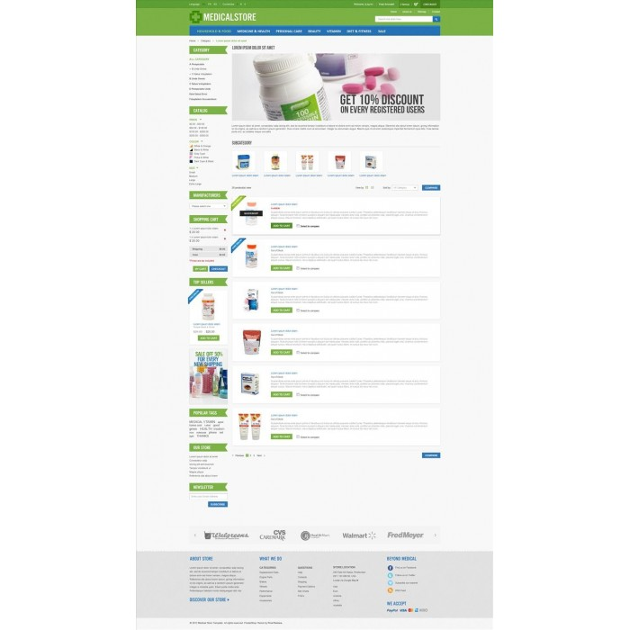 theme - Saúde & Beleza - Medical & Drug Store PrestaShop Theme - MedicalStore - 2