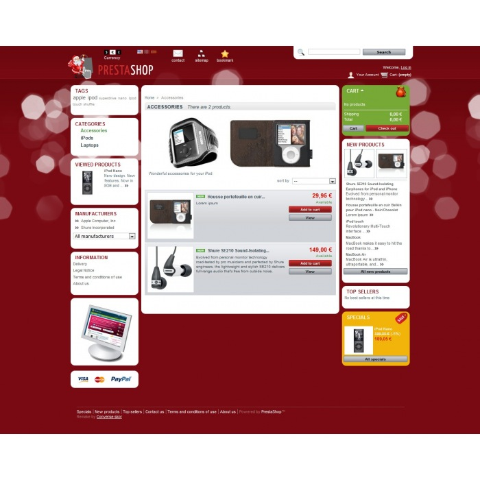 theme - Template PrestaShop - PrestaShop Christmas 2011 - 2