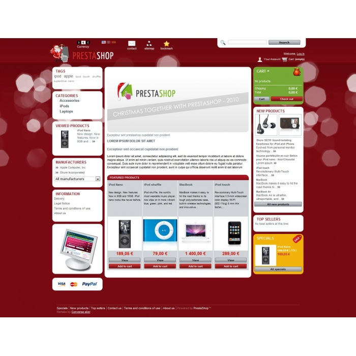 theme - Template PrestaShop - PrestaShop Christmas 2011 - 3