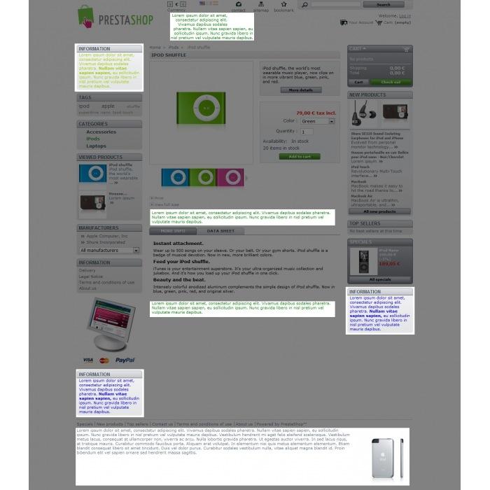 module - Блоки, вкладки и Баннеры - Text block - 4