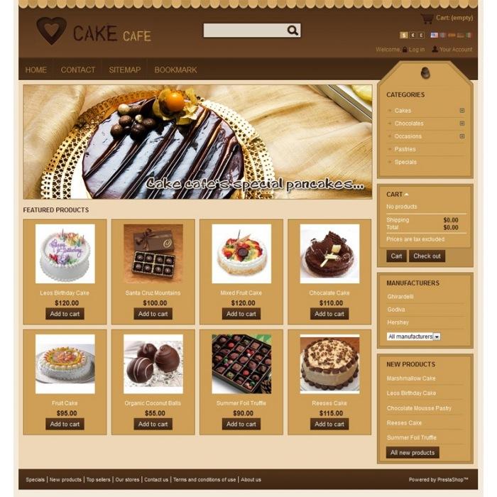 theme - Alimentation & Gastronomie - Cake Prestashop Theme - PRS010006 - 3