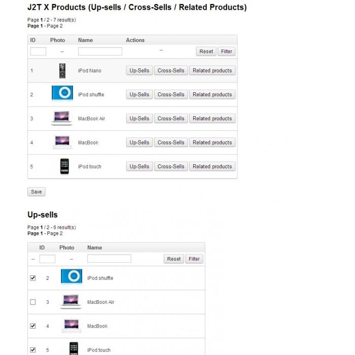 module - Cross-selling & Product Bundles - J2T X Product Up-sells / Cross-Sells / Related Products - 5