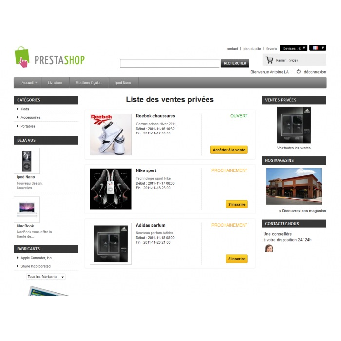 module - Ventas Privadas y Ventas Flash - Ventas Privadas PrestaShop - 2