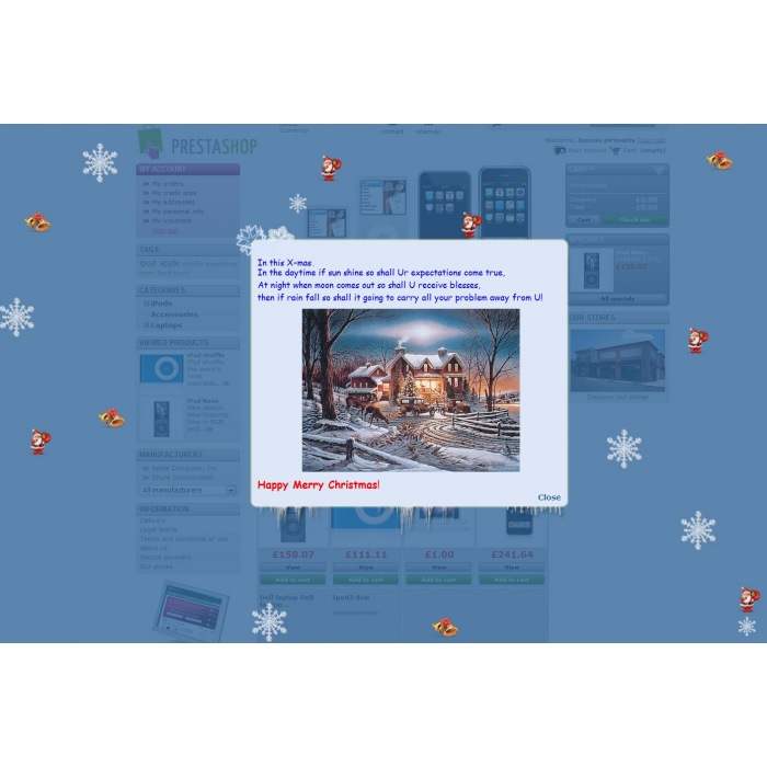module - Page Customization - Christmas flakes + New Year - 4