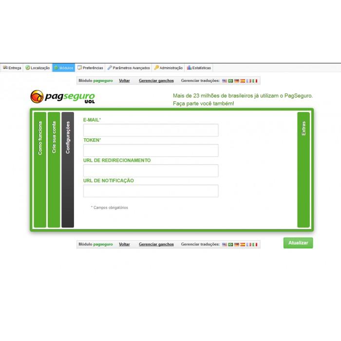module - Pagamento por cartão ou por carteira - pagseguro - 1