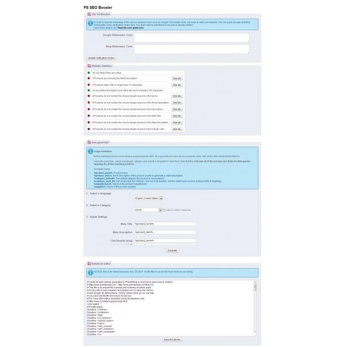 module - SEO (Posicionamiento en buscadores) - Prestashop SEO Booster - 5