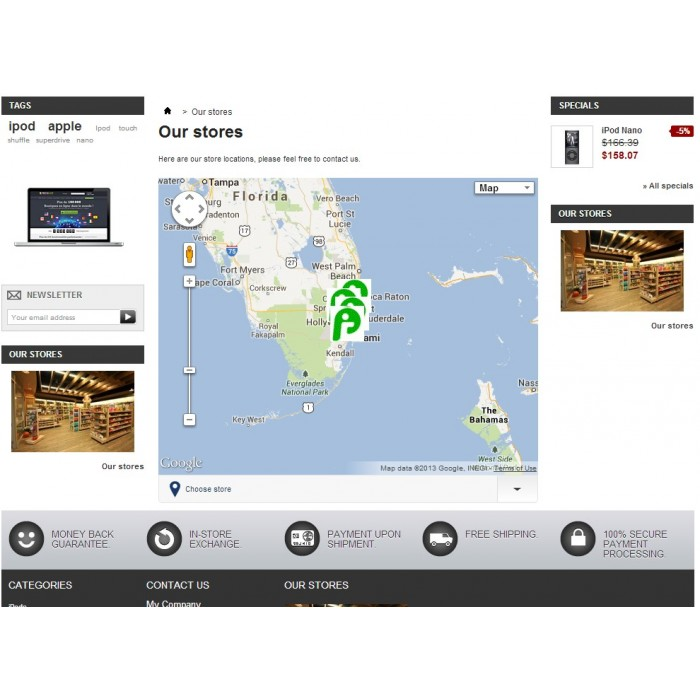 module - Международный рынок и геолокация - Store location in Google maps - 3