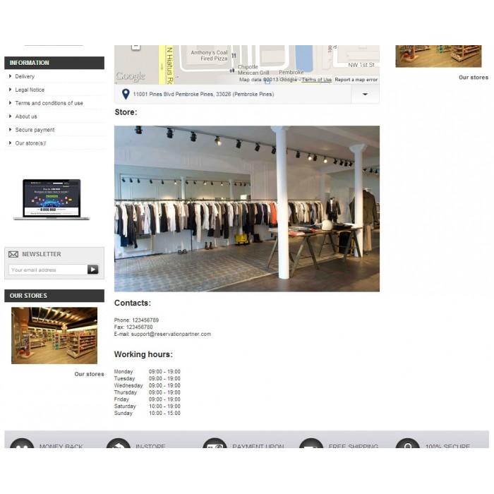 module - Международный рынок и геолокация - Store location in Google maps - 5