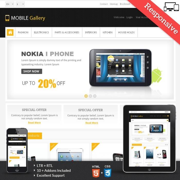 Mobile Gallery Prestashop Theme - PRS060139
