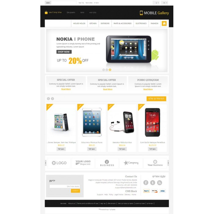 theme - Elektronica & High Tech - Mobile Gallery Prestashop Theme - PRS060139 - 5