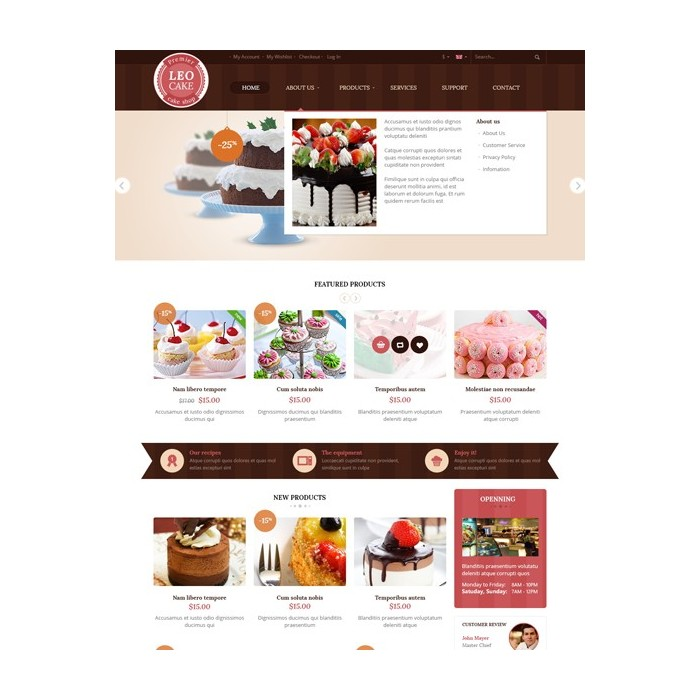 theme - Lebensmittel & Restaurants - Leo Cake - 4