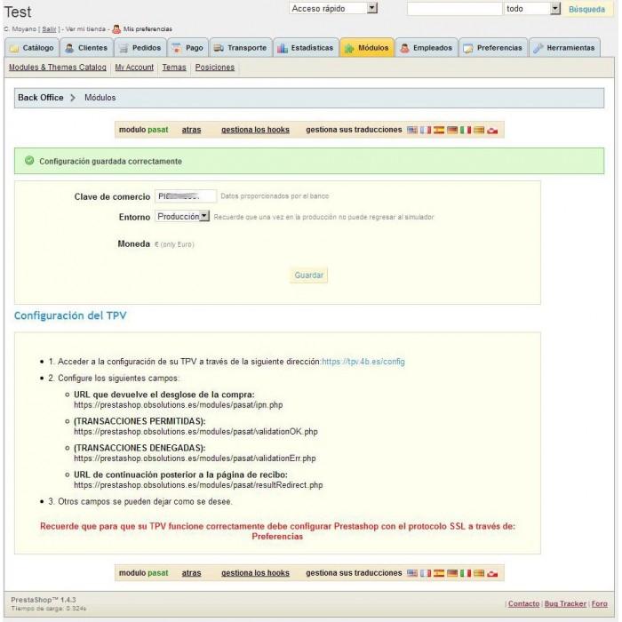 module - Pago con Tarjeta o Carteras digitales - TPV Virtual Pasat 4B - 3