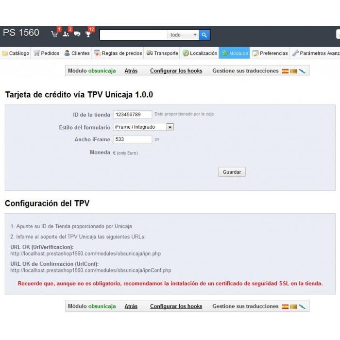 module - Pago con Tarjeta o Carteras digitales - TPV Virtual Unicaja - 4