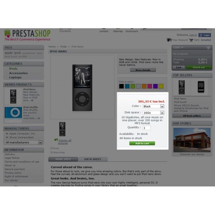 module - Combinaciones y Personalización de productos - Descripciones de atributos - 4