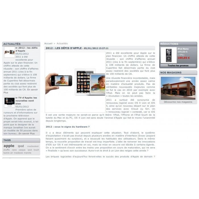 module - Fonctionnalités Front office - Actualités Bloc Plus - 3