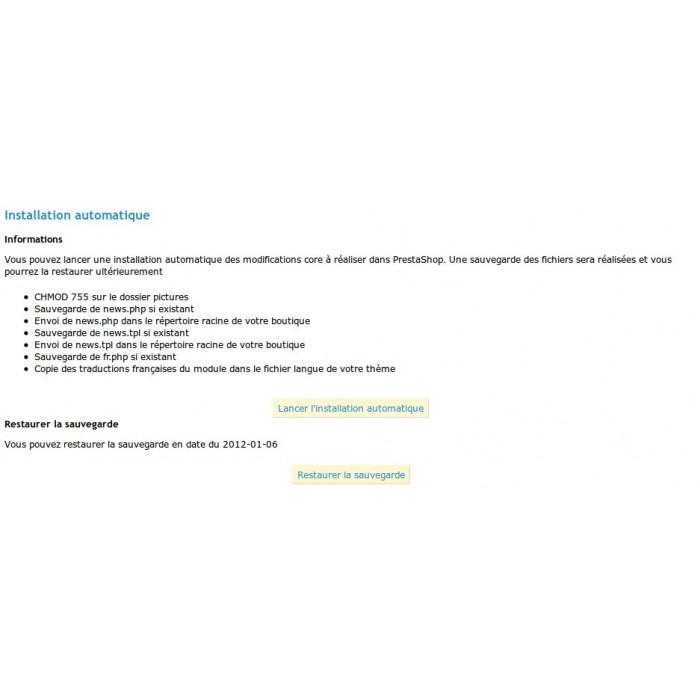 module - Fonctionnalités Front office - Actualités Bloc Plus - 6