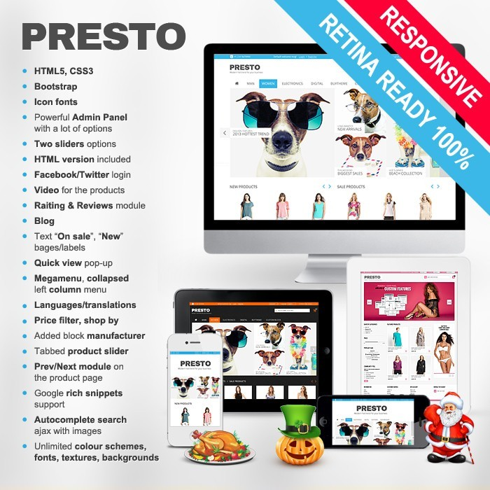 theme - Fashion & Shoes - Presto - 1