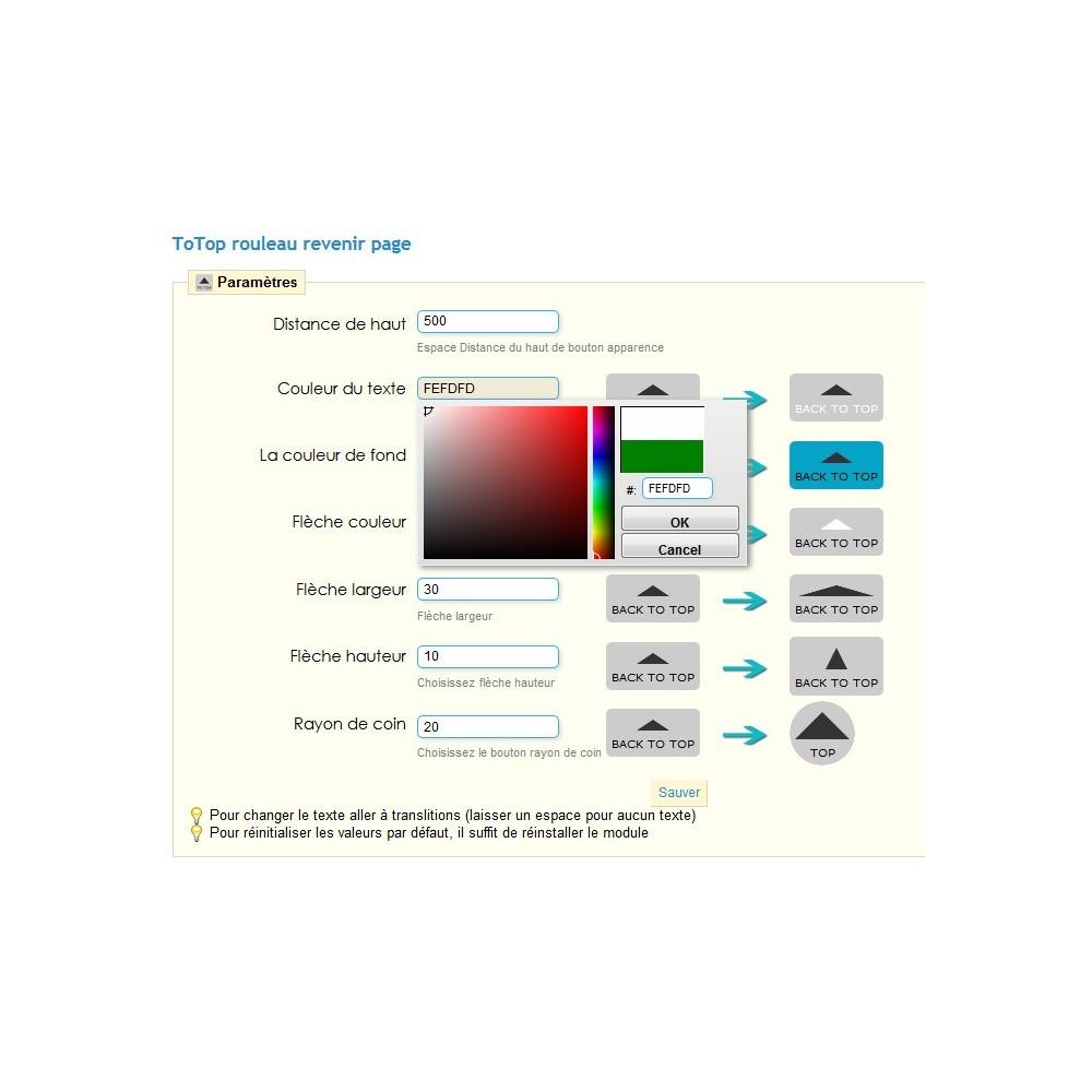 module - Herramientas de navegación - ToTop - desplazamiento volver la arriba ( scroll top ) - 3