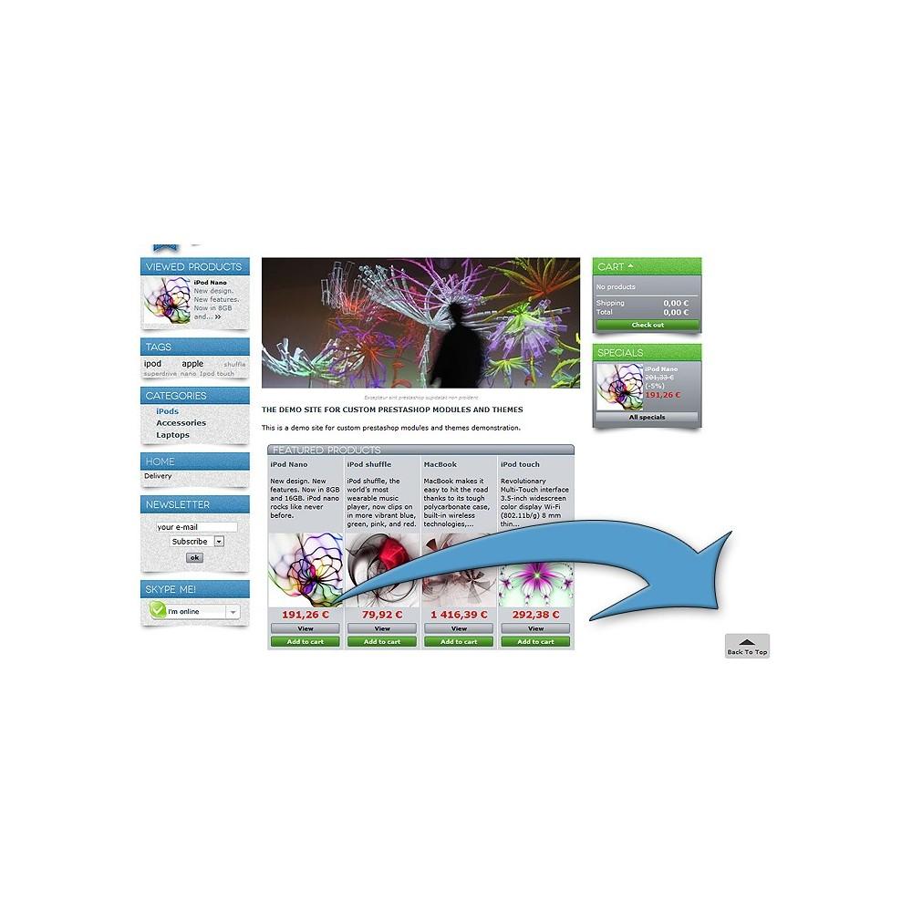 module - Инструменты навигации - ToTop  - прокрутка страницы вверх ( scroll top ) - 2