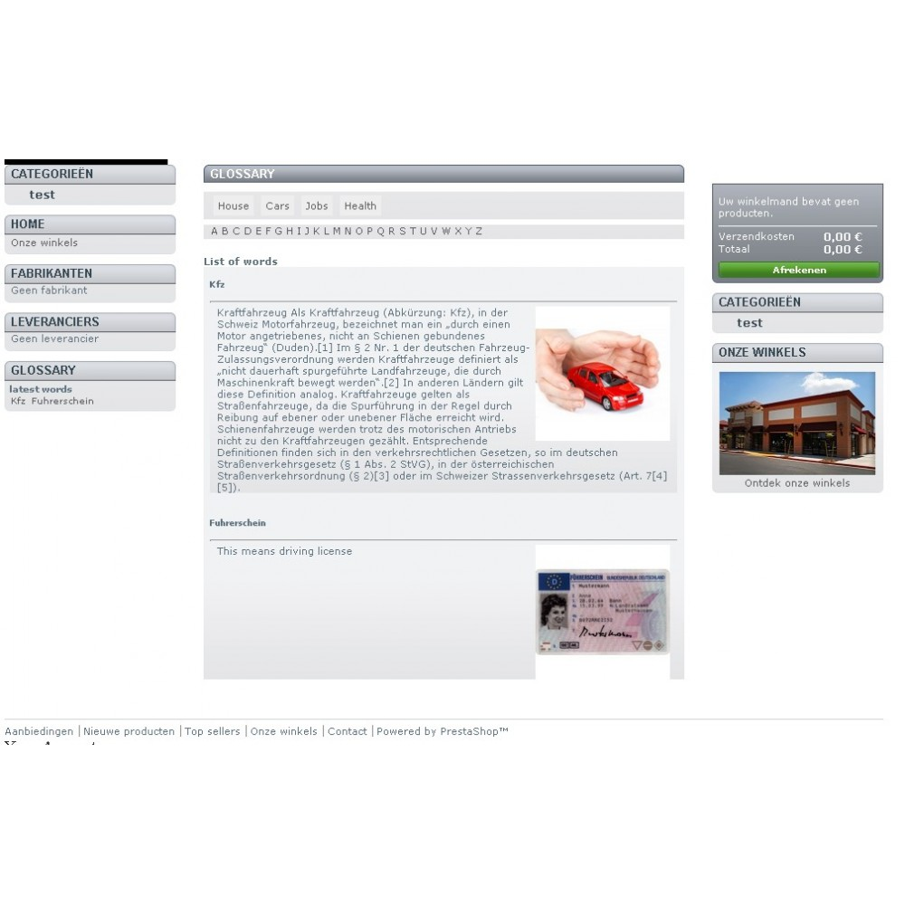 module - Individuelle Seitengestaltung - Glossary Abc - 4