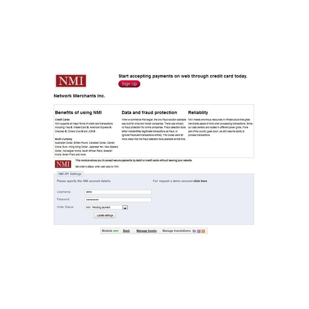 module - Pagamento por cartão ou por carteira - NMI Payment Gateway - 3