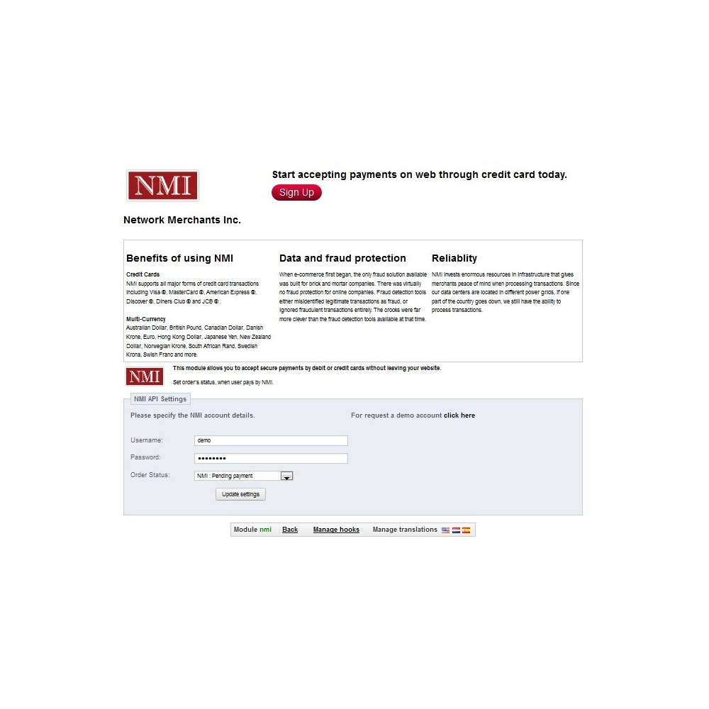 module - Pago con Tarjeta o Carteras digitales - NMI Payment Gateway - 3