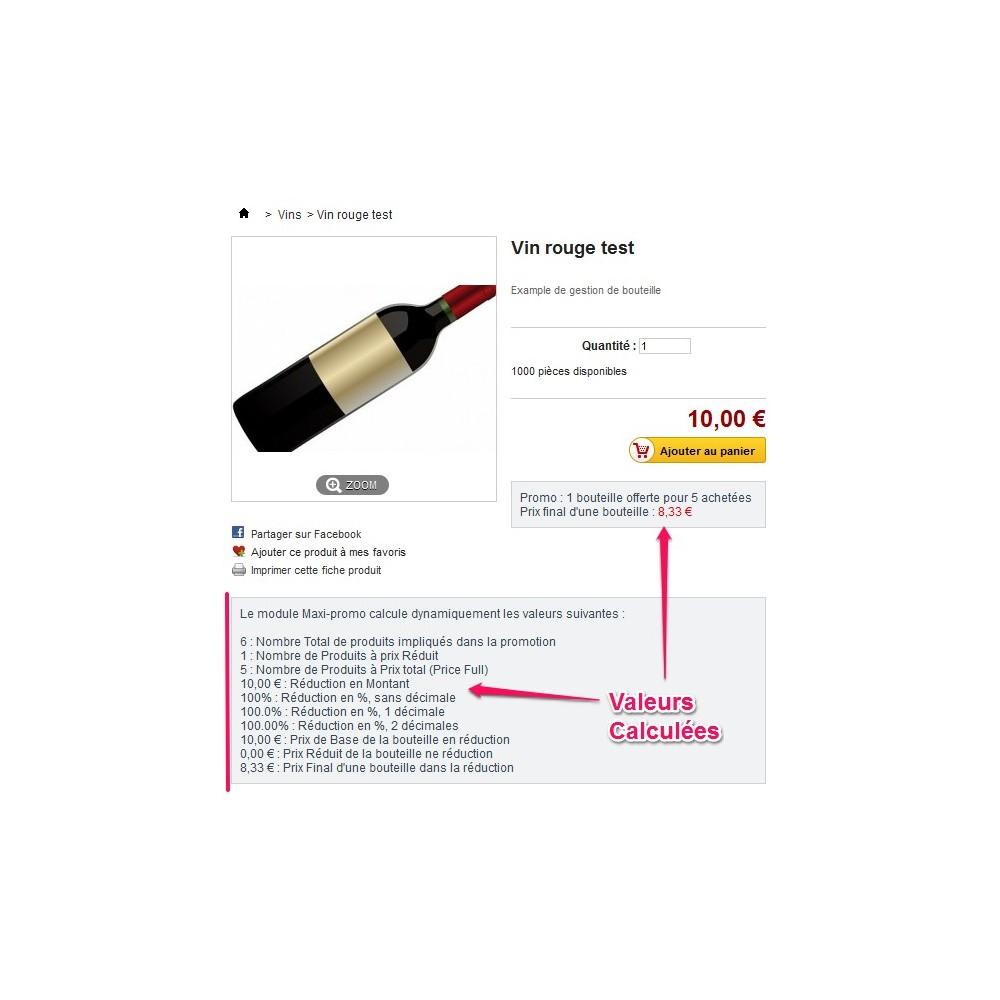 module - Promotions & Cadeaux - Maxi-Promos - Promotions et Réductions Commerciales - 2