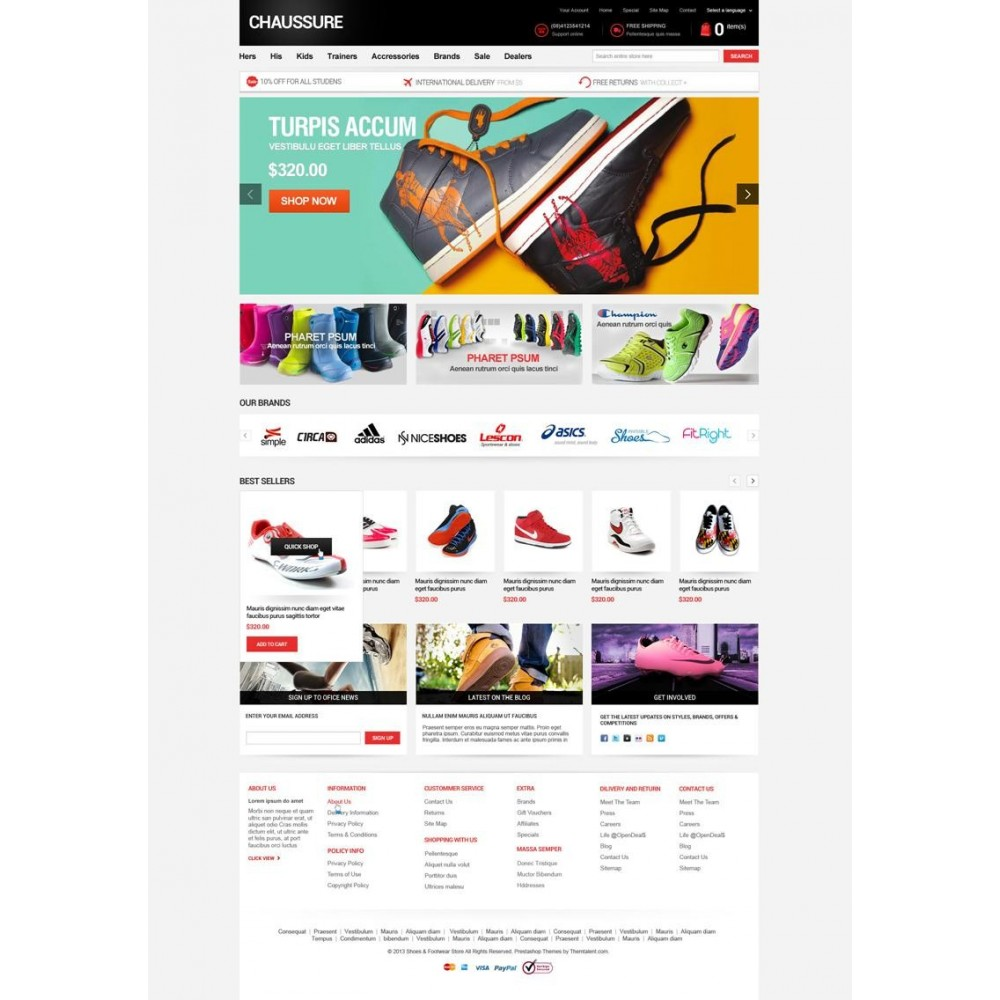 Shoes Store Responsive PrestaShop Theme - ET Chaussure
