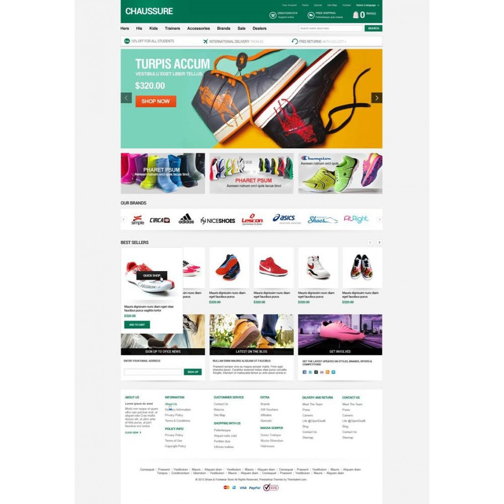 theme - Мода и обувь - Shoes Store Responsive PrestaShop Theme - ET Chaussure - 4
