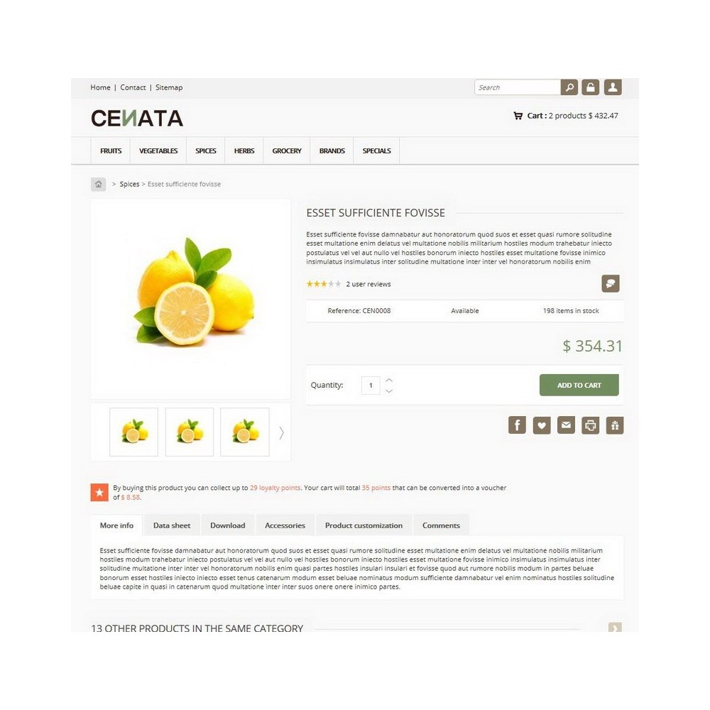 theme - Alimentation & Restauration - Cenata - 3