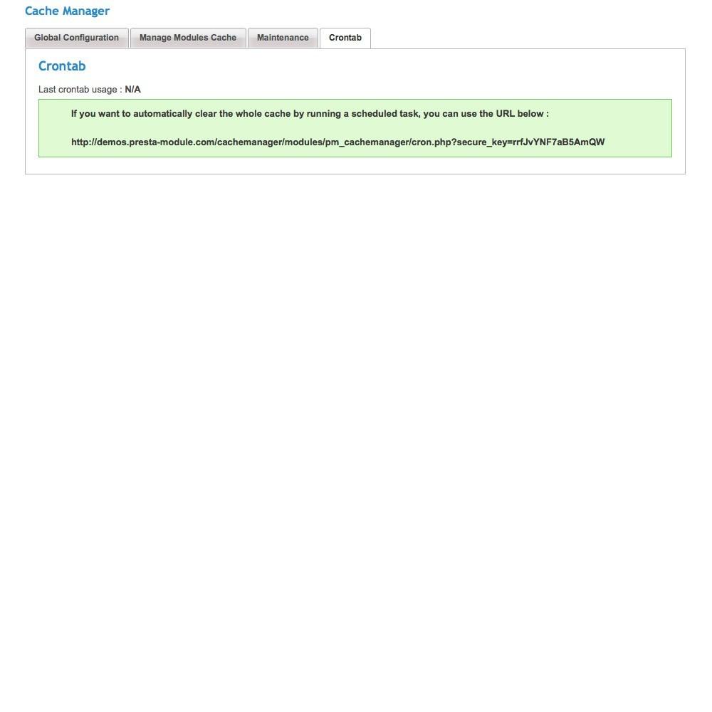 module - Desempenho do Site - Cache Manager - Reduza tempo de carregamento da página - 6