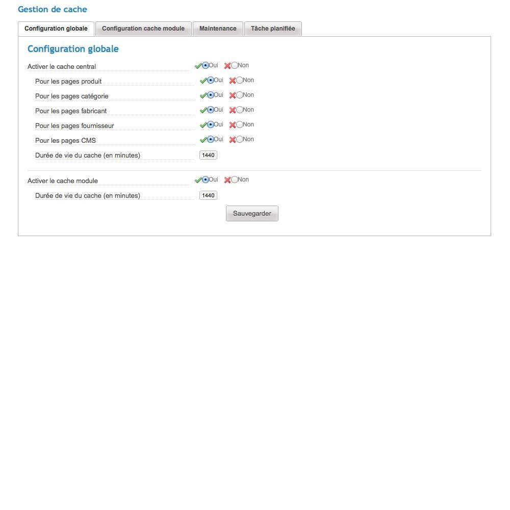module - Performance du Site - Cache Manager - Réduit le temps de chargement des pages - 3
