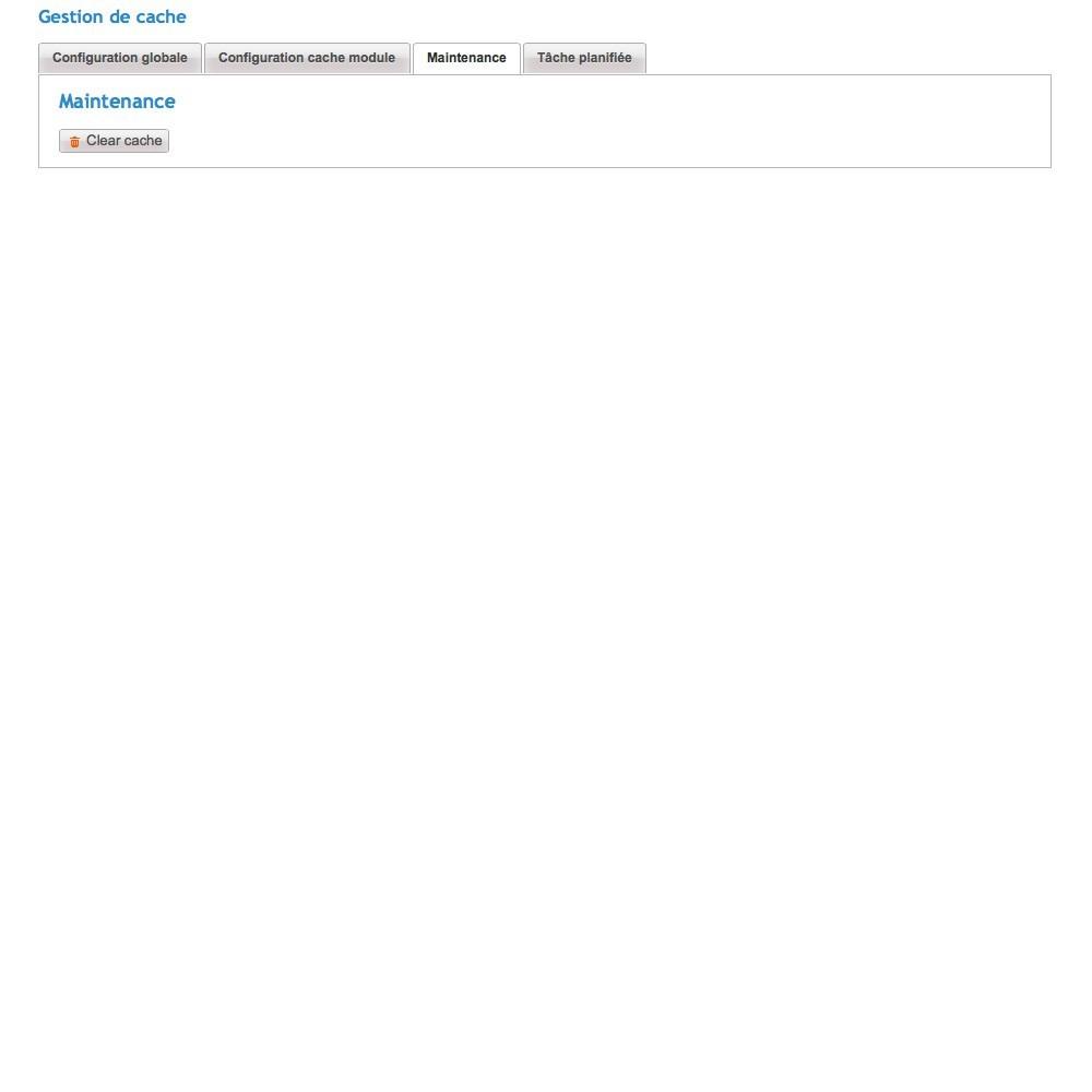 module - Performance du Site - Cache Manager - Réduit le temps de chargement des pages - 5