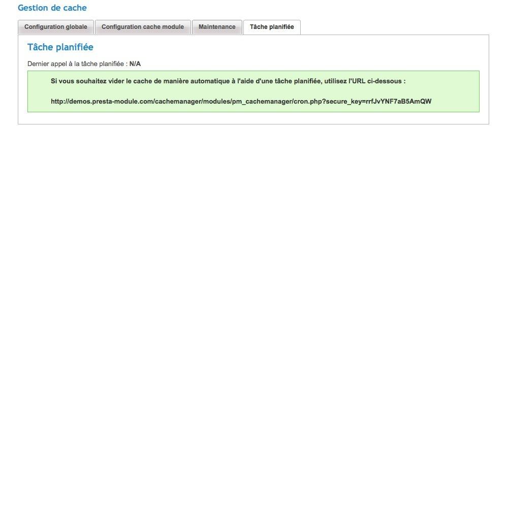 module - Performance du Site - Cache Manager - 6