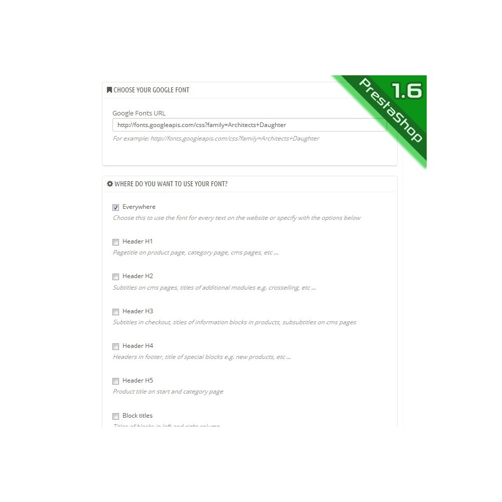 module - Page Customization - Google Fonts - 4