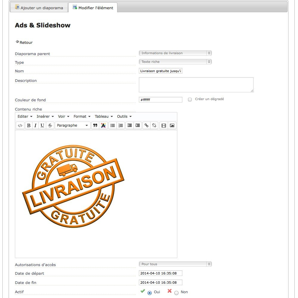 module - Sliders & Galeries - Ads & Slideshow, des blocs et diaporamas sur vos pages - 7