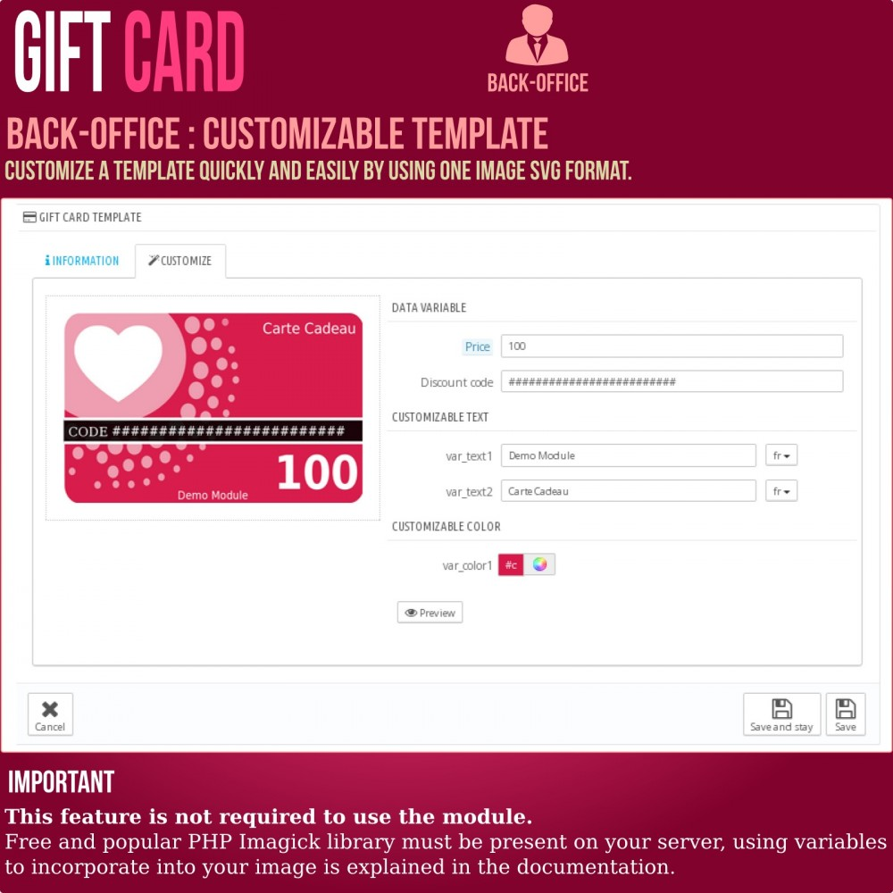 module - Whishlist & Gift Card - Gift Card - Advanced solution - 11