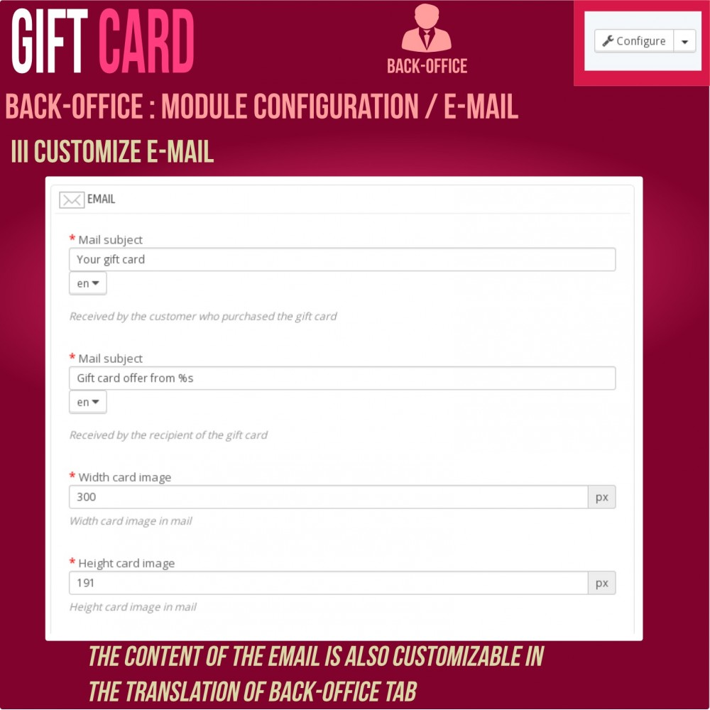 module - Wishlist & Gift Card - Gift Card - Advanced solution - 19