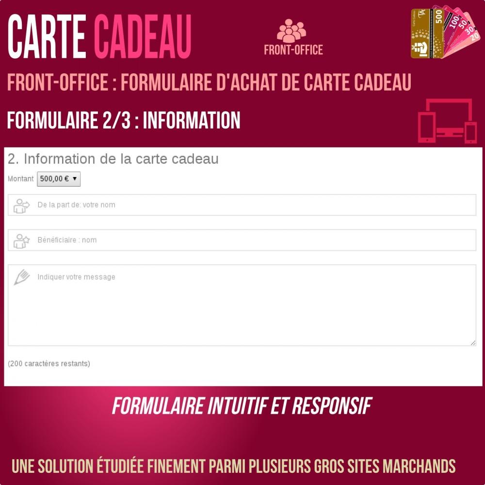 module - Liste de souhaits & Carte cadeau - Carte cadeau - solution avancée - 4