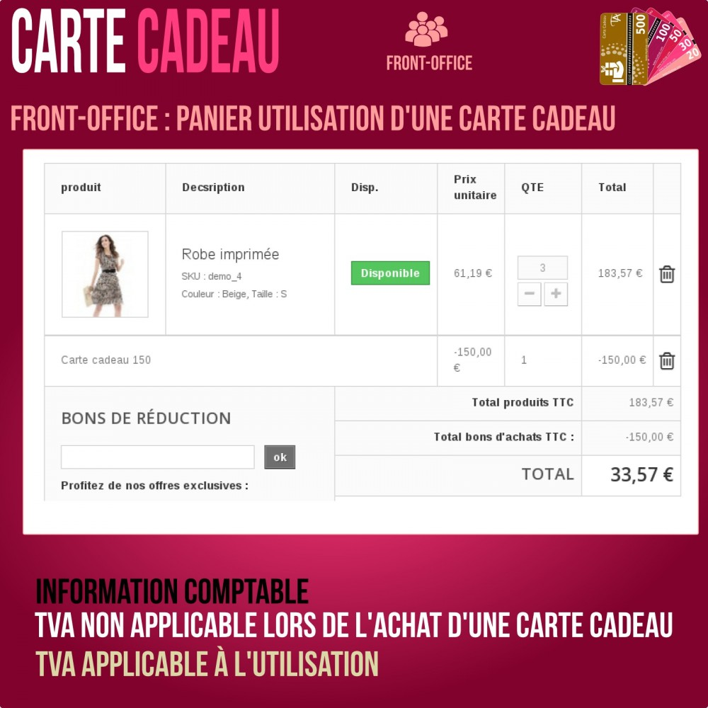 module - Liste de souhaits & Carte cadeau - Carte cadeau - solution avancée - 8
