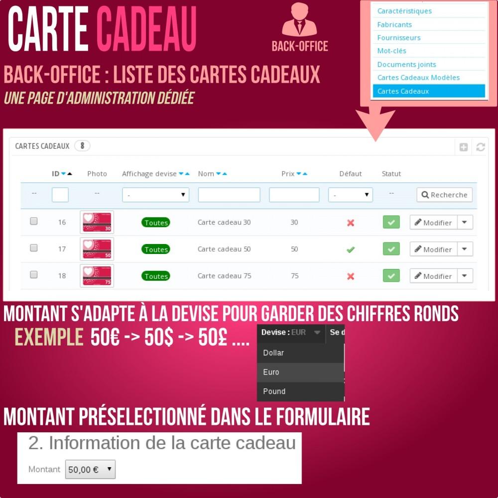 module - Liste de souhaits & Carte cadeau - Carte cadeau - solution avancée - 12