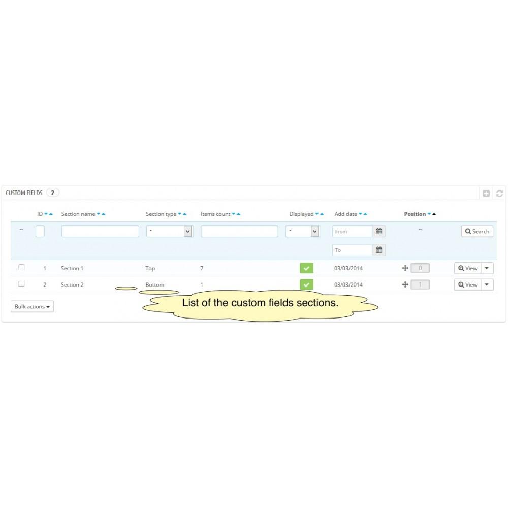 module - Registration & Ordering Process - Custom Fields - 12