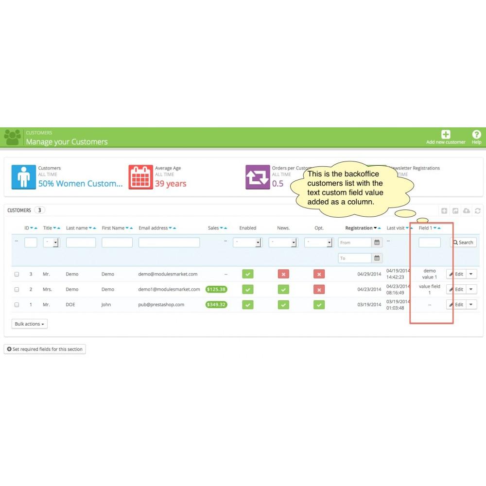 module - Registration & Ordering Process - Custom Fields - 13