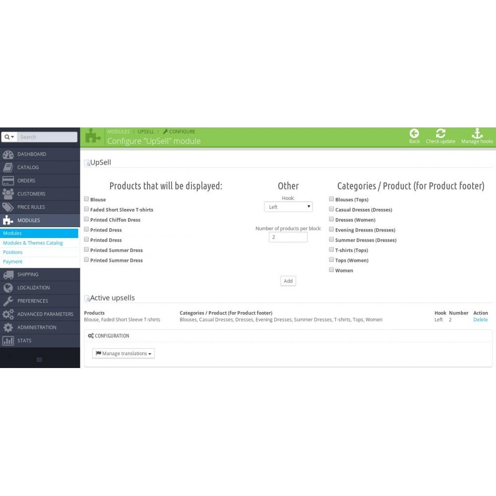module - Sprzedaż krzyżowa & Pakiety produktów - UpSell - 2