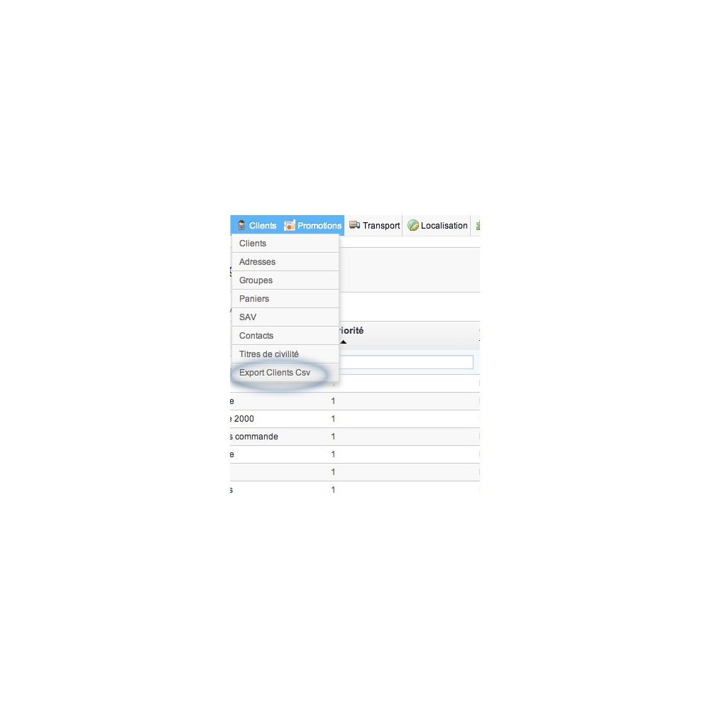 module - Import & Export de données - Export Customers 2 CSV - 3