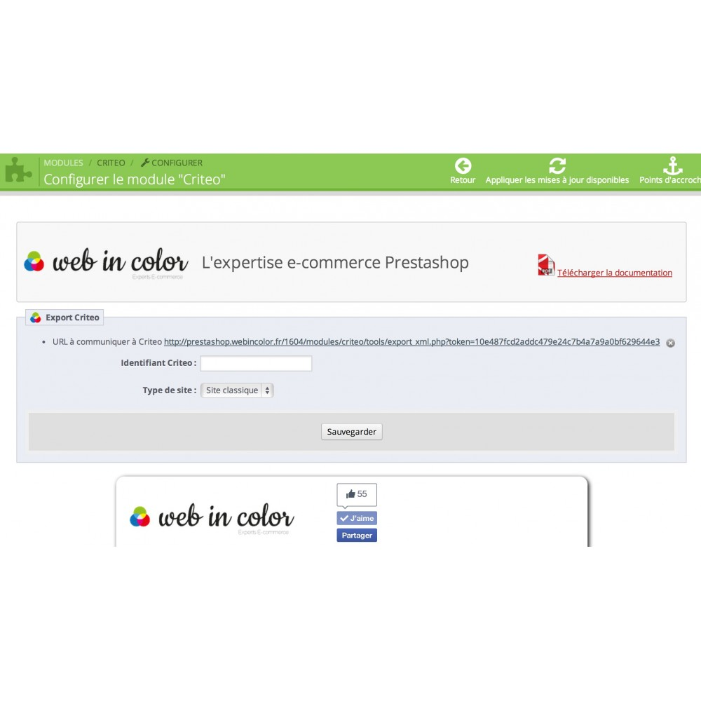module - Remarketing y Carritos abandonados - Criteo Tags and Products Flux (Official) - 2