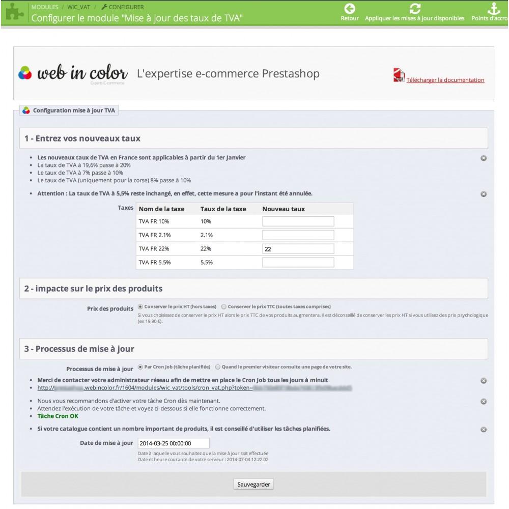 module - Prijsbeheer - Updating VAT rates - 2