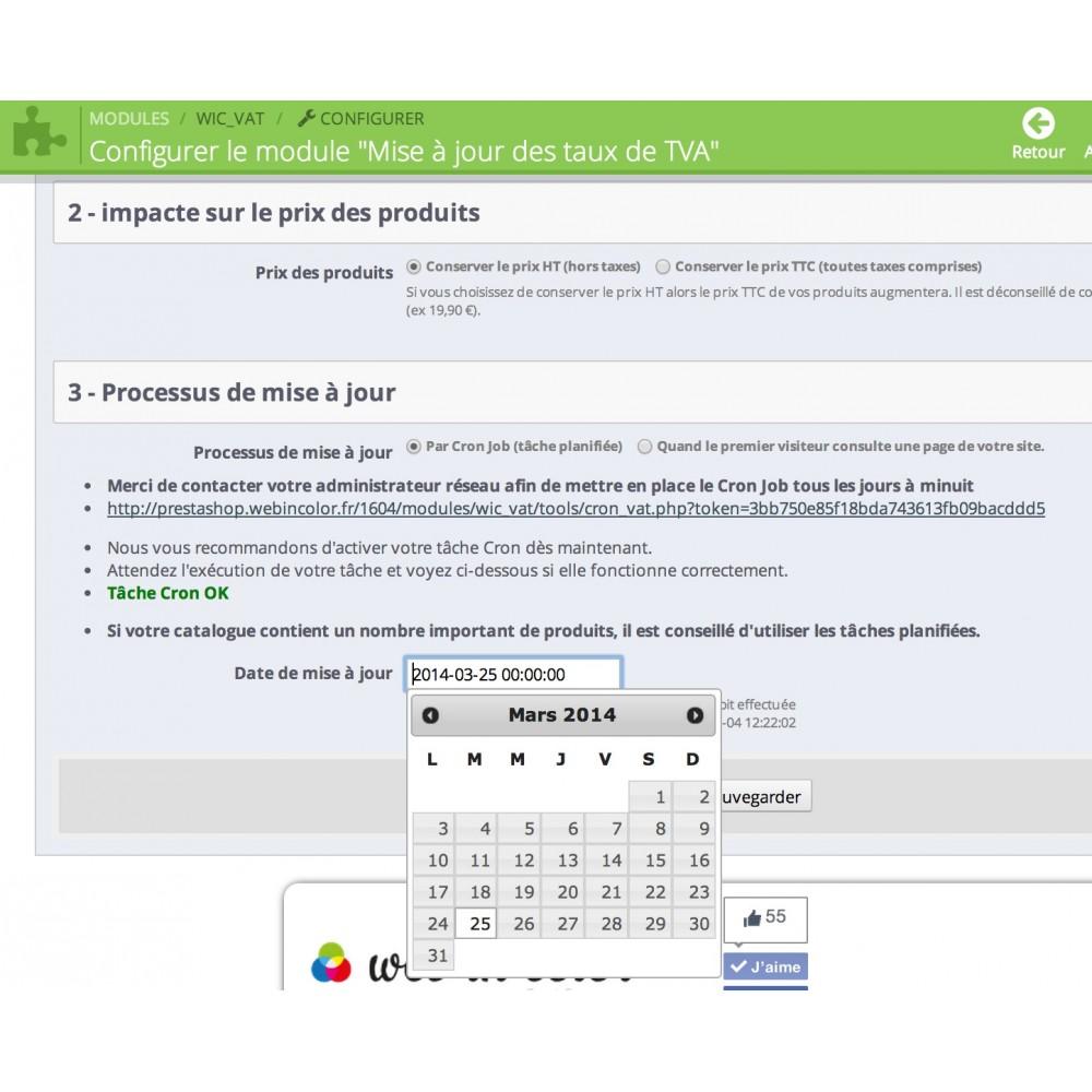 module - Prijsbeheer - Updating VAT rates - 3